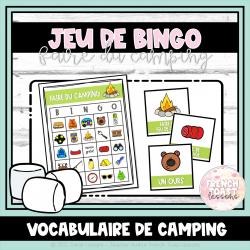 Jeu de BINGO - Le camping