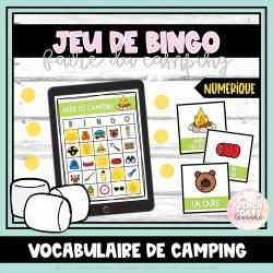 Jeu de BINGO numérique - Le camping