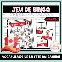 Jeu de BINGO - La fête du Canada