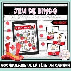 Jeu de BINGO numérique - La fête du Canada