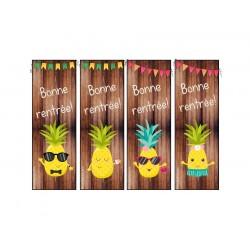 """Signets """"Bonne rentrée"""" format ananas"""