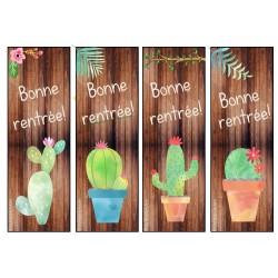 Signets cactus rentrée scolaire