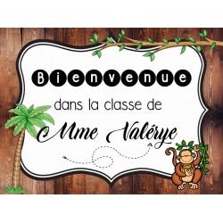 Bienvenue dans la classe de...(singes)