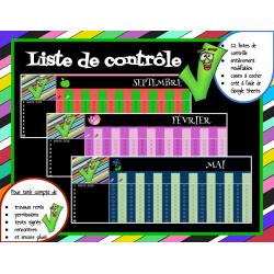 Liste de contrôle