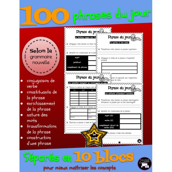 100 Phrases du jour