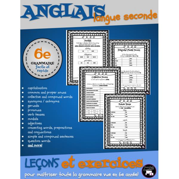 ANGLAIS langue seconde