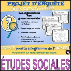MINI ENQUÊTE: ÉTUDES SOCIALES / les ONG