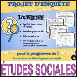 MINI ENQUÊTE: ÉTUDES SOCIALES / l'UNICEF