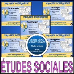 PROJET D'ENQUÊTE: ÉTUDES SOCIALES/ensemble complet