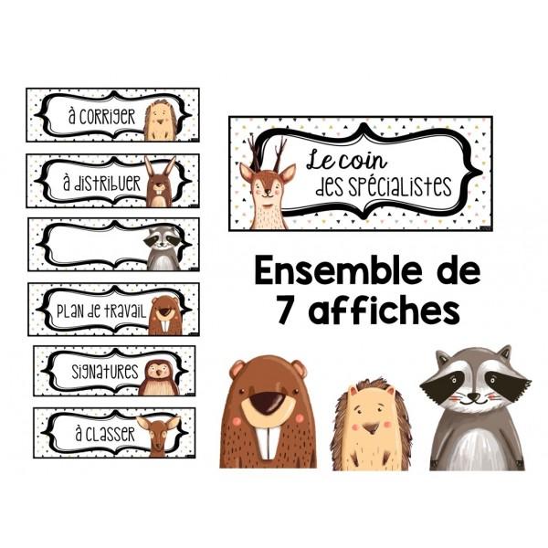 affiches animaux de la forêt