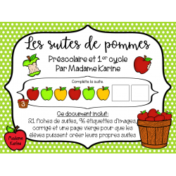 Les suites de pommes