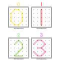 Lettres et chiffres en géoplan