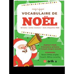 Mots étiquettes - Vocabulaire de Noël