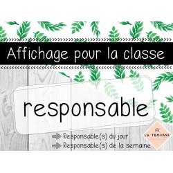 Responsable - Affichage