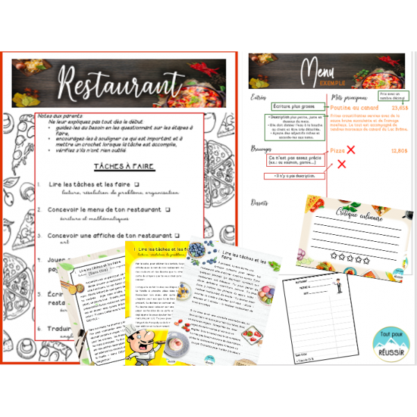 Projet Restaurant (3e cycle)
