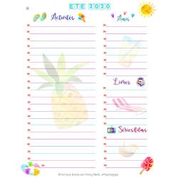 Liste estivale