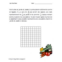 Fractions à colorier dans un plan