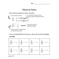 Réduction de fractions