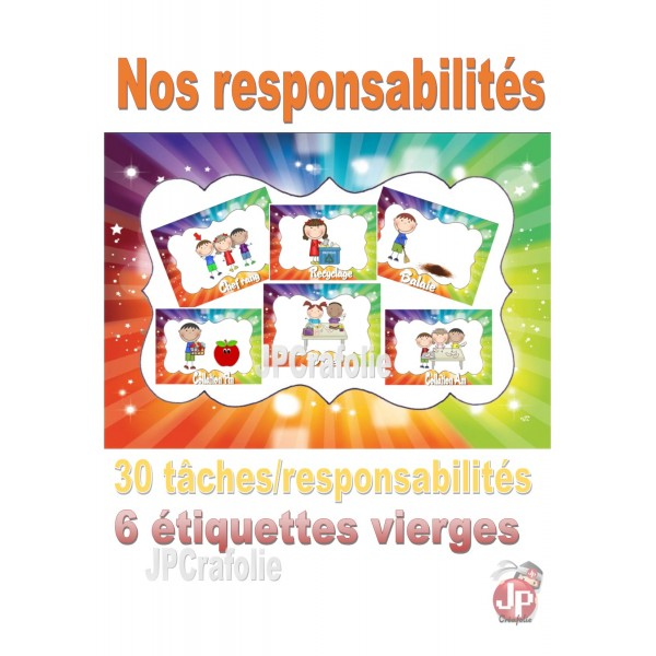 Les reponsabilités des enfants du groupe