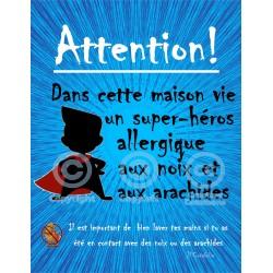 Affiches allergies aux noix et arachides