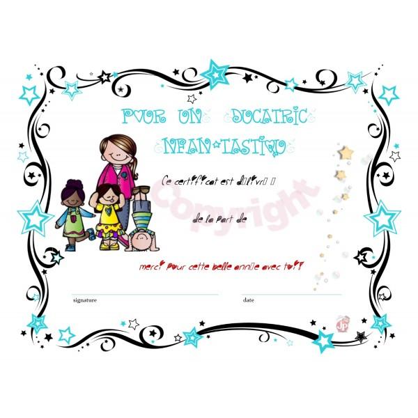 Certificat: Pour une éducatrice enfan-tastique