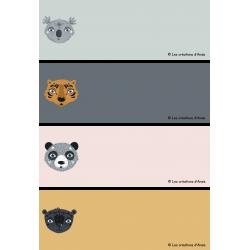 Étiquettes pour pupitre animaux sauvages