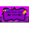 Affiches de portes de classes