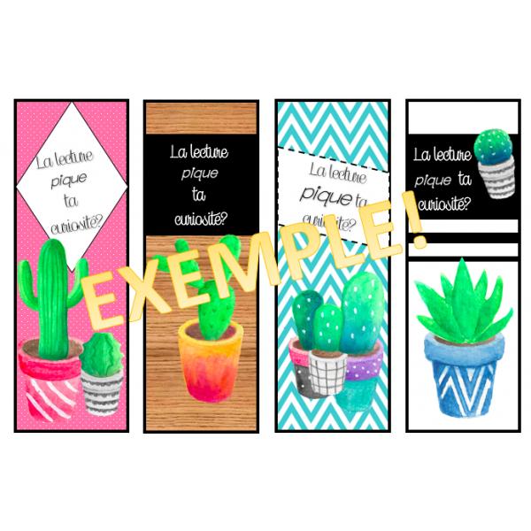 Signets de lecture (cactus)