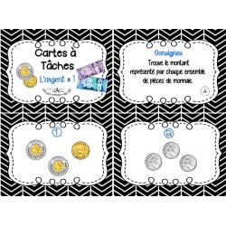 Cartes à tâches : l'argent #1
