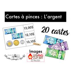 Cartes à pinces : L'argent