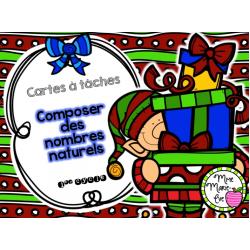 Cartes à tâches - Composer des nombres naturels
