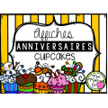 Anniversaires - Cupcakes (Affiches)