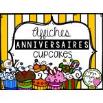 Anniversaires - Cupcakes (Affiches)
