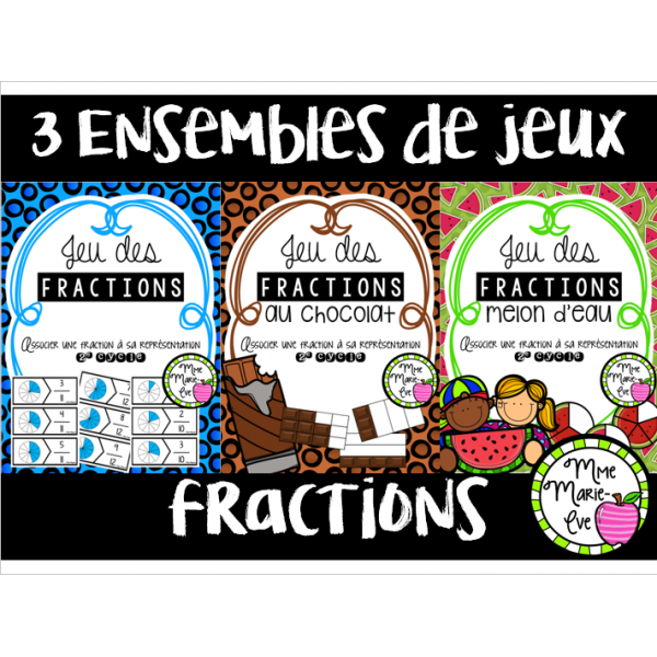 Bundle - Casse-têtes - Fractions 2e cycle