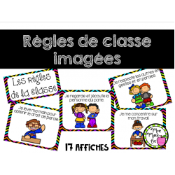 Règles de la classe imagées - Rentrée scolaire