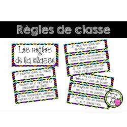 Règles de la classe - Affiches - Rentrée scolaire