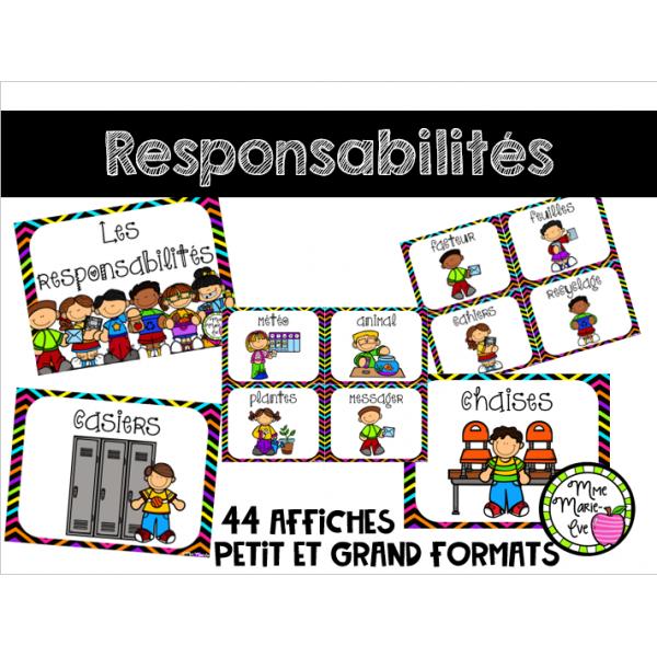 Responsabilités - Affiches - Rentrée scolaire