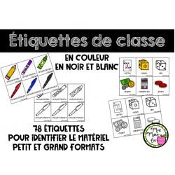 Étiquettes de classe - Rentrée scolaire