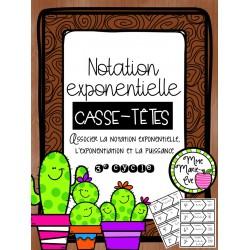 Casse-têtes - Notation exponentielle