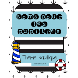 Noms- Thème nautique