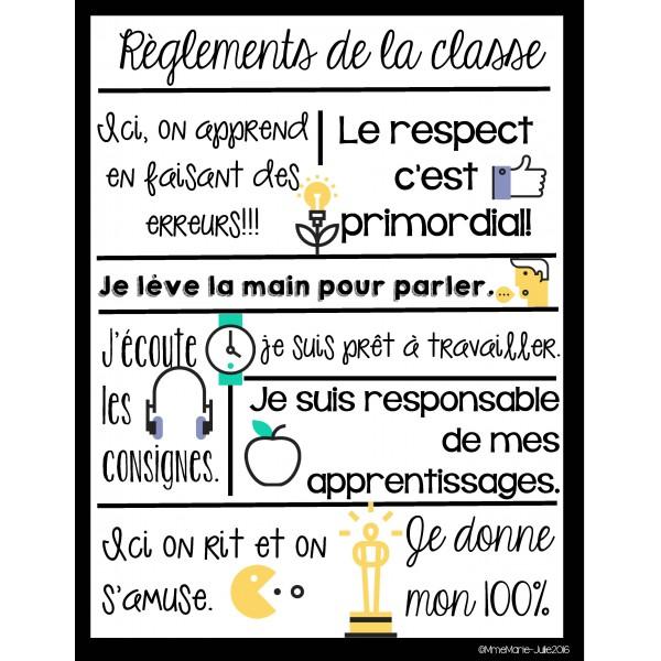Règlements de classe