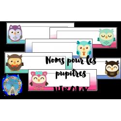 Noms pour les pupitres- Hiboux