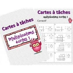 Cartes à tâches multiplications écrites