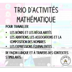 Trio d'activités mathématiques