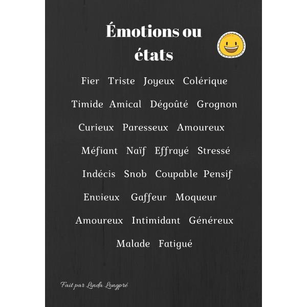 Affiche émotions