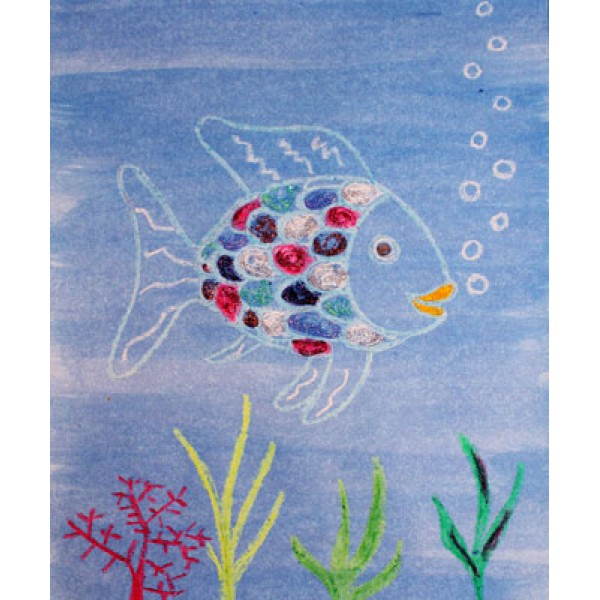 Activité de peinture : le poisson Arc-en-ciel