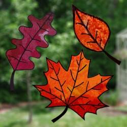 Bricolage vitraux d'automne