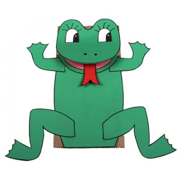 Marionnette grenouille avec un sac en papier