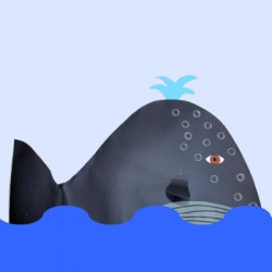 Projet de baleine en papier