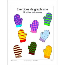 Exercices de graphisme et bricolage moufle